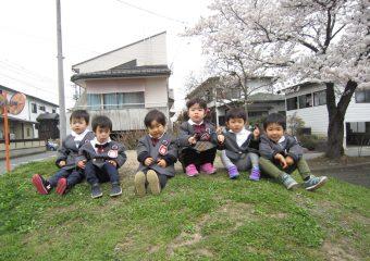 みんなで桜を見たよ